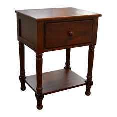 Mantua Mfg   Mantua Traditional Nightstand, Cherry   Nightstands And Bedside  Tables