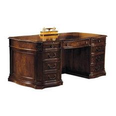 Home Office Century Carved Serpentine Desk