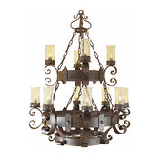 New Rome Wrought Iron Chandelier