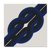 """""Knot"""" by Reis & Manwaring, 1973 Original Vintage Serigraph -Blue"