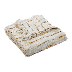 Mustard Decorative Throw Blanket