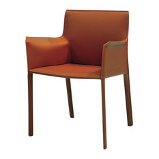 Mobital USA Inc.   Fleur Armchair, Caramel   Armchairs And Accent Chairs