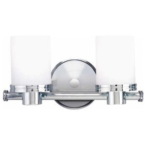 Southport 2-Light Bathroom Vanity Light, Polished Chrome