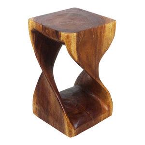 Haussmann® Original Wood Twist Stool 12 X 12 X 20 In High Walnut Oil