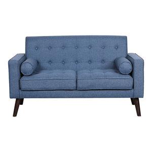 Morre Loveseat, Ocean Blue By US Pride Furniture Corp.