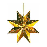 Perforated star in glossy brass