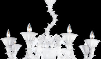 Eurofase 19533-018 Firolia, 8-Light Chandelier, Chrome, White