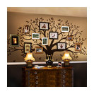 """Family Tree Wall Decal, Chestnut Brown, Standard 107""""x90"""""""