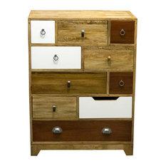 BB Designs - Mango Wood Camden Vintage 10-Drawer Dresser - Chests of Drawers