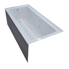 Pontormo 30 x 60 Front Skirted Whirlpool Drop-In Bathtub with Left Drain
