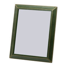 """8"""" x 10"""" Leather Picture Frame, Green"""