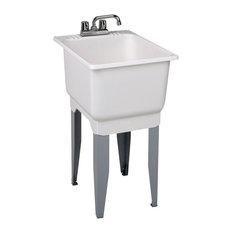 "Mustee Utilatub Utility Sink 23.7""x18.2""x16"", White"