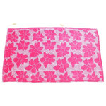 Hilaire Productions - Casmus Beach Towel, Pink - This innovative, patented design beach towel is made of cotton with a bright pink floral print. It has a drawstring attachment to make it easy, comfortable, and secure to wear at the beach, pool, or sauna. A hidden and water-resistant zippered storage pocket makes transporting it and other items safer and easier. Conceal your phone, iPod, keys, wallet, and anything else while on-the-go.
