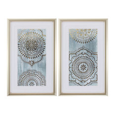 Indigo Mandala, Set of 2