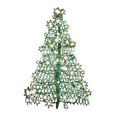 Crab Pot Christmas Tree, Green, 3', 160 Clear Led Mini Lights