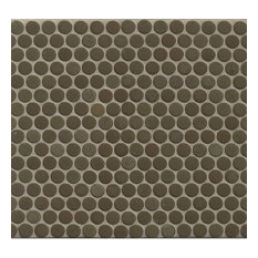 "3/4"" Penny Rounds Mosaic, 12""x12"" Sheet, Shale"
