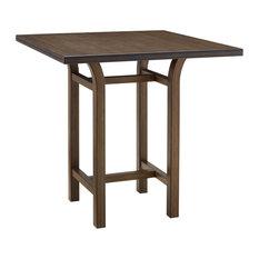 Tulip 40-inch Bar Height Table Black Walnut 40-inch