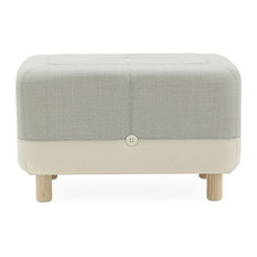 Normann Copenhagen - Sumo Pouf, Light Gray Hybrid - Floor Pillows and Poufs