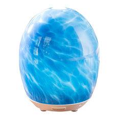 SpaRoom - MarbleMist Glass Ultrasonic Diffusing Mister, Blue - Home Fragrances