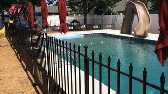 Pool landscaping and patio