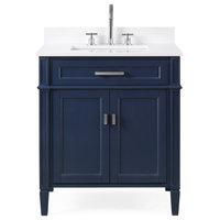 "30"" Durand Navy Blue Modern Bathroom Vanity"
