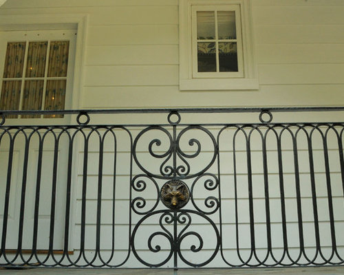 Exterior Railing With Bronze Details