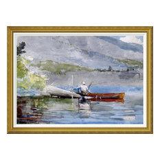 """The Red Canoe"" Art, 46""x34"""