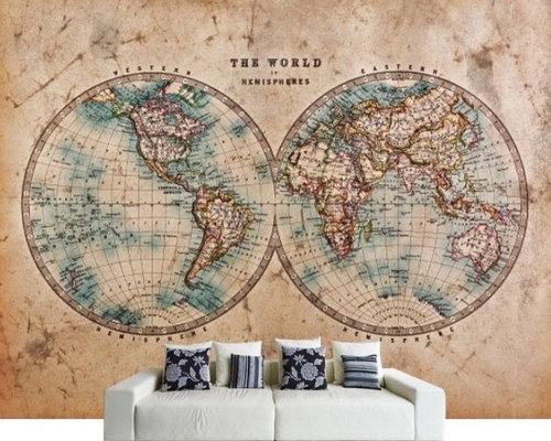 World map wallpaper - Wallpaper