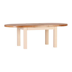 Large 1.8-2.3 m Oval Extending Table, Champagne Painted Oak