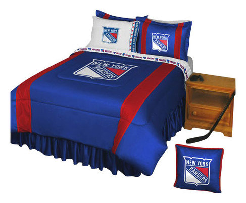 NHL New York Rangers Bedding Set Hockey Bed - Contemporary - Kids ...