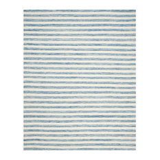 Safavieh Dhurries Collection DHU575 Rug, Blue/Ivory, 8'x10'