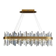 LED Chandelier, Gold