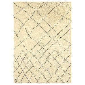 Amira Lattice Moroccan Wool Rug, 120x170 cm