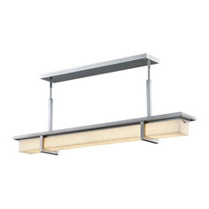 """Clouds Monolith, Linear LED Outdoor Chandelier, 40"""", Brushed Nickel"""
