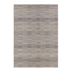 "Couristan Cape Fayston Indoor/Outdoor Area Rug, Silver-Charcoal, 7'10""x10'9"""
