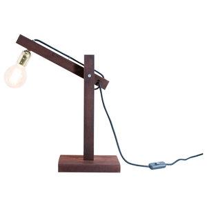 Oslo Sapele Table Lamp, Globe Bulb