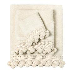 - Matching Towel Pom-Pom, Privium Beige - Toallas de baño