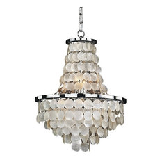 8 Light Capiz Shell Chandelier