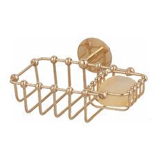 Solid Brass Soap Dish Sponge Basket Wall Mount 2 In 1