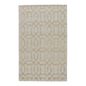 Jaipur Living Batten Knotted Trellis Green Ivory Area Rug