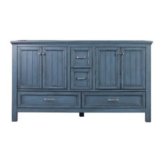 Foremost BAV6022D Brantley Double Vanity Cabinet Fixture, Harbor Blue