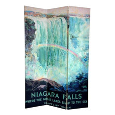 6' Tall Double Sided Niagara Falls Room Divider