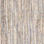 "Hand Braided Jute and Denim Striped Area Rug, Blue, 7'6""x9'6"""