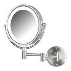 Jerdon Lighted Mirror, Direct Wire, Nickel