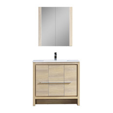 "Milan 36"" Vanity Set With Medicine Cabinet, Briccole Oak"