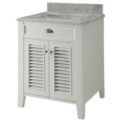 Perfect Transitional Bathroom Vanities And Sink Consoles Transitional Kalani Bathroom Vanity With Carrara Top