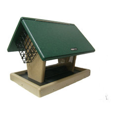 Recycled 7 Quart 2-Sided Hopper With 2 Angled Suet Cages