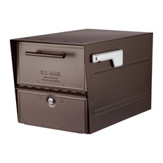 Oasis Eclipse Post Mount Locking Mailbox, Rubbed Bronze