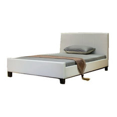 Greatime B1143 Platform Bed, Twin, White