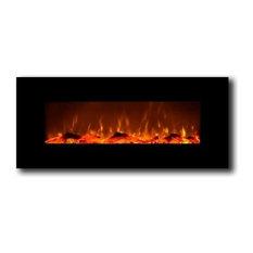 "Onyx Wall Mounted Electric Fireplace, Black, 50"""